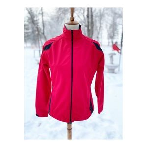Maier Sports Red Athletic Jacket Zip Front